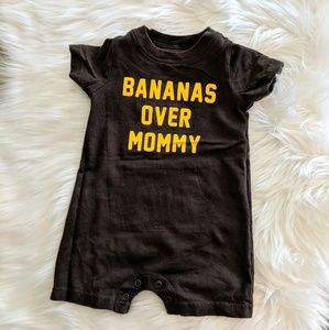 Other - Bananas Over Mommy Baby Romper
